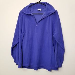 Columbia 1X Blue 1/4 Zip Fleece Jacket Layer